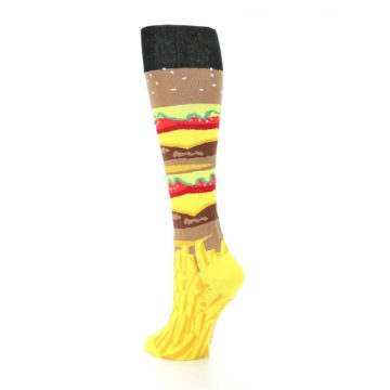 Image of Burger and Fries Women's Knee High Socks (side-2-back-15)