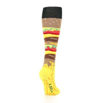 Image of Burger and Fries Women's Knee High Socks (side-1-back-21)