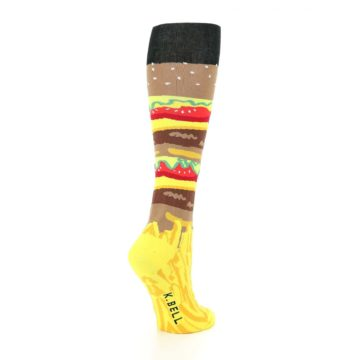 Image of Burger and Fries Women's Knee High Socks (side-1-back-22)