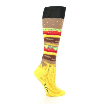 Image of Burger and Fries Women's Knee High Socks (side-1-24)