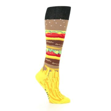 Image of Burger and Fries Women's Knee High Socks (side-1-25)