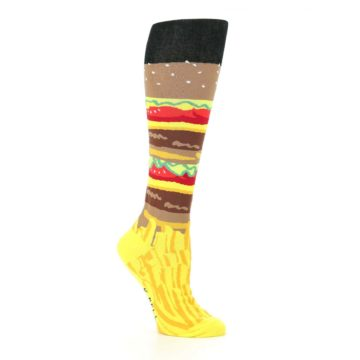 Image of Burger and Fries Women's Knee High Socks (side-1-26)