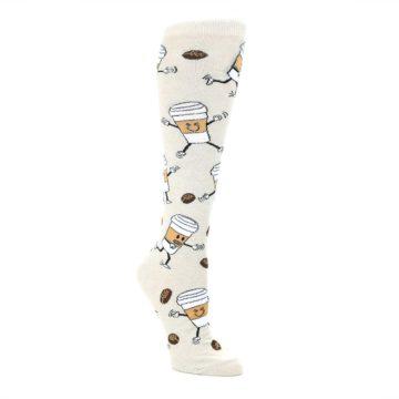 Coffee-To-Go-Womens-Knee-High-Socks-K-Bell-Socks