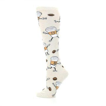 Image of Coffee To Go Women's Knee High Socks (side-2-13)