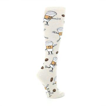 Image of Coffee To Go Women's Knee High Socks (side-1-23)