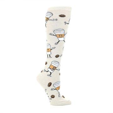 Image of Coffee To Go Women's Knee High Socks (side-1-25)