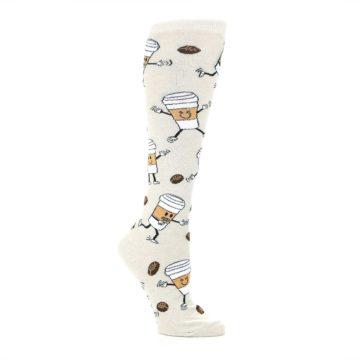 Image of Coffee To Go Women's Knee High Socks (side-1-26)