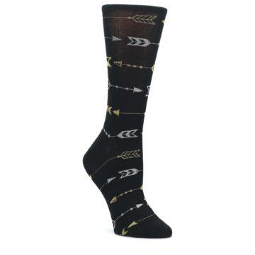 Black-Gold-Silver-Arrows-Womens-Dress-Socks-K-Bell-Socks
