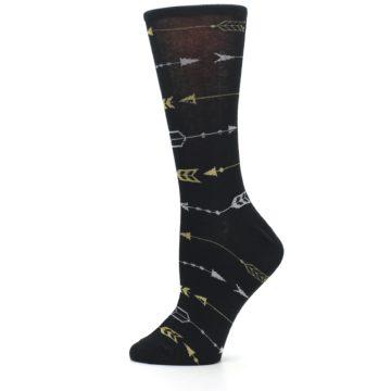 Image of Black Gold Silver Arrows Women's Dress Socks (side-2-12)