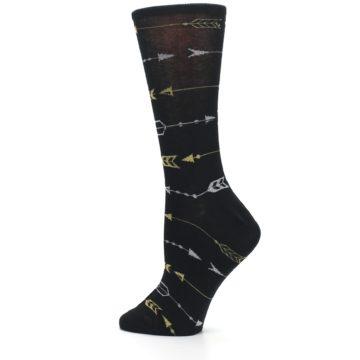Image of Black Gold Silver Arrows Women's Dress Socks (side-2-13)