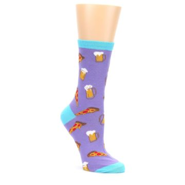 Purple-Pizza-and-Beer-Womens-Dress-Socks-K-Bell-Socks