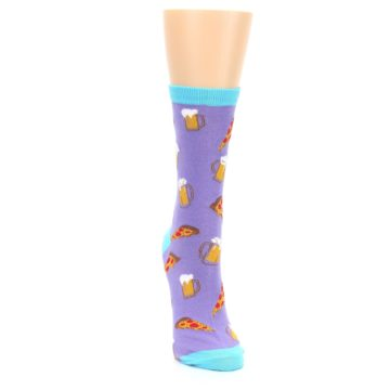 Image of Purple Pizza and Beer Women's Dress Socks (front-04)