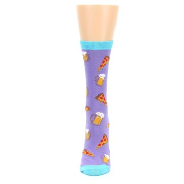 Image of Purple Pizza and Beer Women's Dress Socks (side-2-front-06)