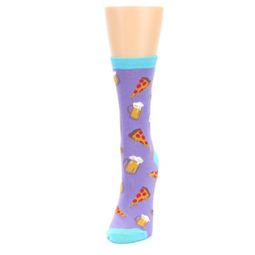 Image of Purple Pizza and Beer Women's Dress Socks (side-2-front-07)