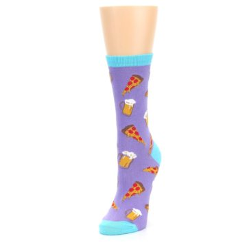 Image of Purple Pizza and Beer Women's Dress Socks (side-2-front-08)