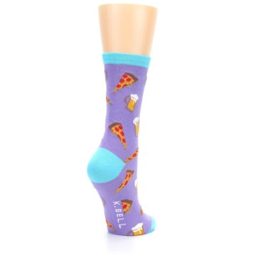 Image of Purple Pizza and Beer Women's Dress Socks (side-1-back-22)