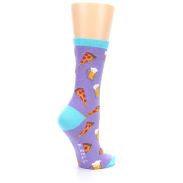 Image of Purple Pizza and Beer Women's Dress Socks (side-1-23)