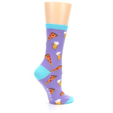 Image of Purple Pizza and Beer Women's Dress Socks (side-1-24)