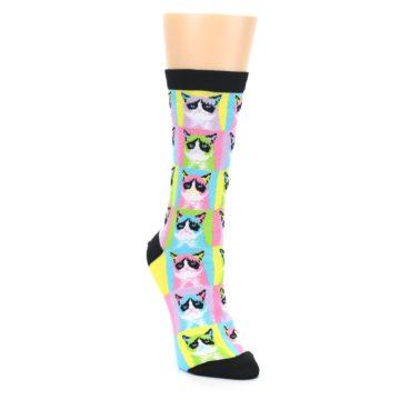 Image of Multi Color Grumpy Cat Women's Dress Socks (side-1-front-02)
