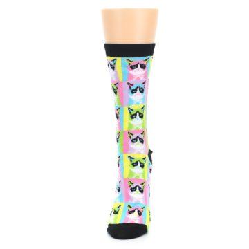 Image of Multi Color Grumpy Cat Women's Dress Socks (side-2-front-06)