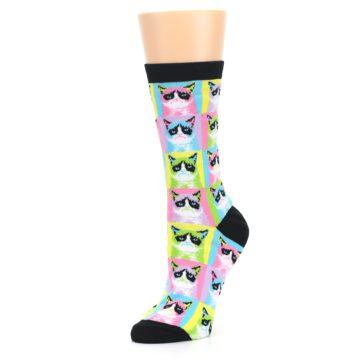 Image of Multi Color Grumpy Cat Women's Dress Socks (side-2-09)