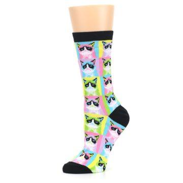 Image of Multi Color Grumpy Cat Women's Dress Socks (side-2-10)