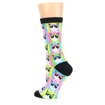 Image of Multi Color Grumpy Cat Women's Dress Socks (side-2-back-14)