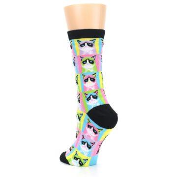 Image of Multi Color Grumpy Cat Women's Dress Socks (side-2-back-15)