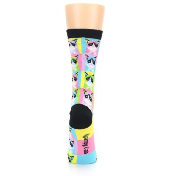 Image of Multi Color Grumpy Cat Women's Dress Socks (back-19)