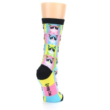 Image of Multi Color Grumpy Cat Women's Dress Socks (side-1-back-21)