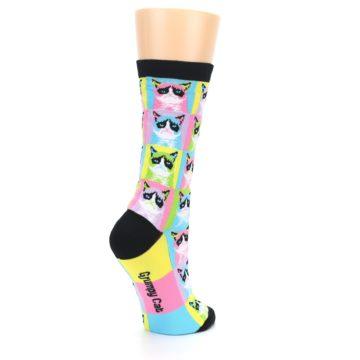 Image of Multi Color Grumpy Cat Women's Dress Socks (side-1-back-22)
