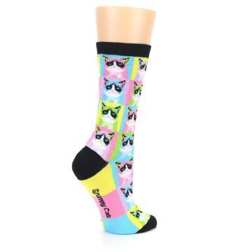 Image of Multi Color Grumpy Cat Women's Dress Socks (side-1-23)