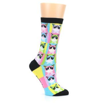 Image of Multi Color Grumpy Cat Women's Dress Socks (side-1-25)