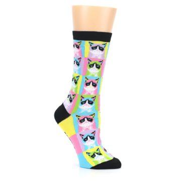 Image of Multi Color Grumpy Cat Women's Dress Socks (side-1-26)