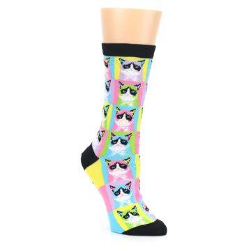 Image of Multi Color Grumpy Cat Women's Dress Socks (side-1-27)