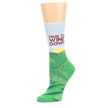 Image of Wine Down Vineyard Women's Dress Socks (side-2-10)