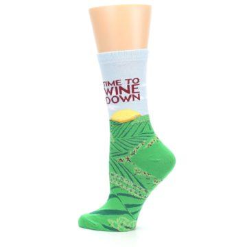 Image of Wine Down Vineyard Women's Dress Socks (side-2-13)