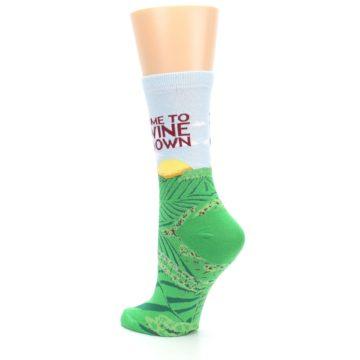 Image of Wine Down Vineyard Women's Dress Socks (side-2-back-15)