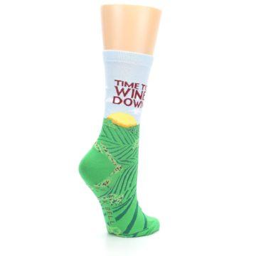 Image of Wine Down Vineyard Women's Dress Socks (side-1-23)