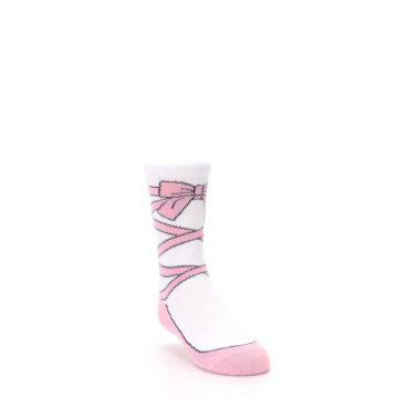 Image of Ballet Slipper Kid's Dress Socks (side-1-front-02)