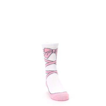 Image of Ballet Slipper Kid's Dress Socks (side-1-front-03)