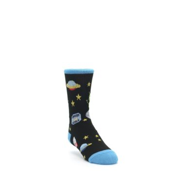 Image of Black Outer Space Kid's Dress Socks (side-1-front-02)