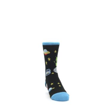 Image of Black Outer Space Kid's Dress Socks (side-1-front-03)