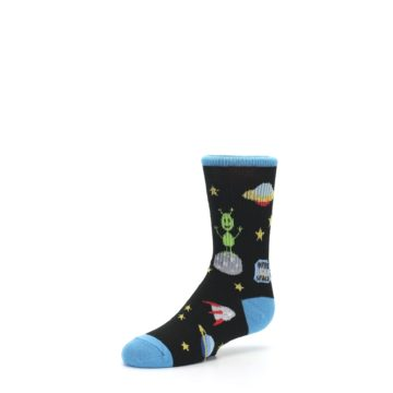 Image of Black Outer Space Kid's Dress Socks (side-2-09)