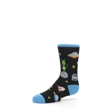 Image of Black Outer Space Kid's Dress Socks (side-2-10)