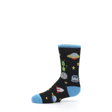 Image of Black Outer Space Kid's Dress Socks (side-2-11)