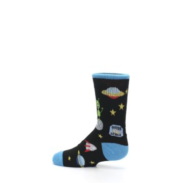 Image of Black Outer Space Kid's Dress Socks (side-2-13)