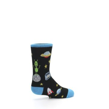 Image of Black Outer Space Kid's Dress Socks (side-1-23)
