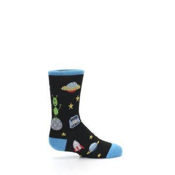 Image of Black Outer Space Kid's Dress Socks (side-1-24)