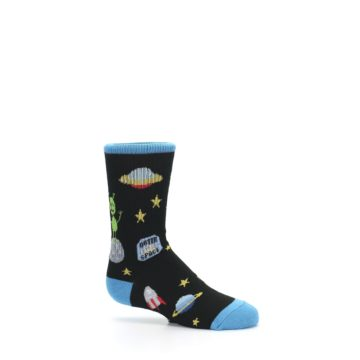 Image of Black Outer Space Kid's Dress Socks (side-1-25)